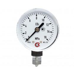 Манометр углекислотный 0-1МПа .