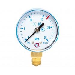 Манометр кислородный 0-25МПа.