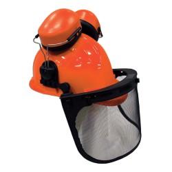 Шлем защитный с щетком и наушникми