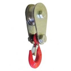 Блок монтажный с откидной щекой крюк/петля 0,5т.