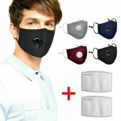 Пылезащитная маска фильтр с активированным углем MP2.5 клапаном выдоха (черный цвет)