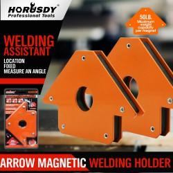 Струбцина магнитная для сварки 22 кг (сварочный магнит) HORUSDY