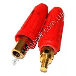 Сварочный разъем для соединения кабеля 10х25 мм